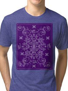 Purple and White Nightmare Before Christmas Mandala Tri-blend T-Shirt