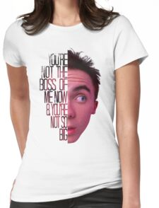 you're not the boss of me now Womens Fitted T-Shirt