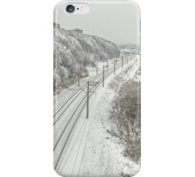 Railway during the winter iPhone Case/Skin