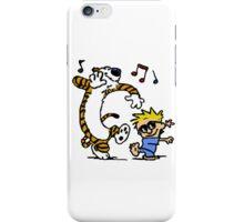Calvin And Hobbes Dancing iPhone Case/Skin