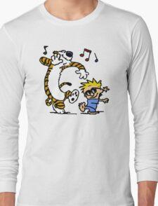 Calvin And Hobbes Dancing Long Sleeve T-Shirt