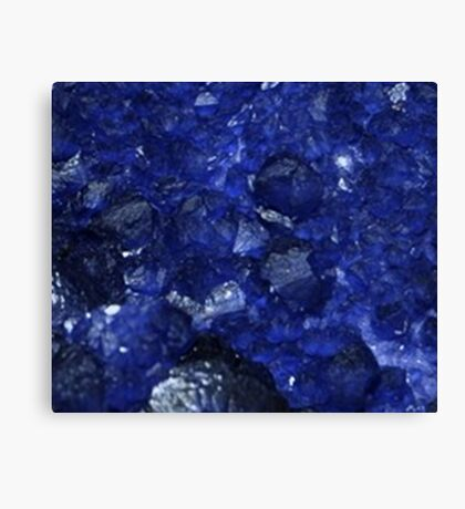 Calming Blue Sapphire Crystal Burst Contemporary Design Canvas Print