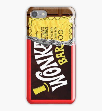 Wonka Chocolate Bar Golden Ticket iPhone Case/Skin