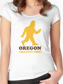 Squatch Out Oregon Women's Fitted Scoop T-Shirt
