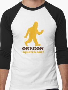 Squatch Out Oregon Men's Baseball ¾ T-Shirt