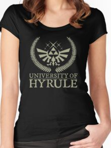 University Of Hyrule Women's Fitted Scoop T-Shirt