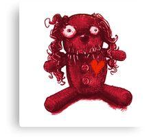 nasty pink voodoo baby Canvas Print