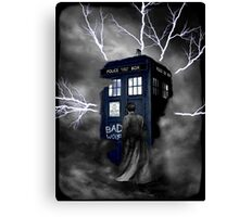 Lightning Blue Box Canvas Print