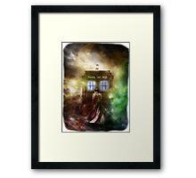 Fantasy Fog Blue Box Framed Print