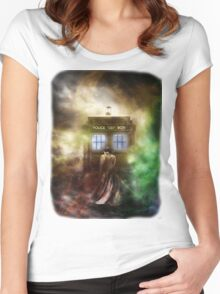 Fantasy Fog Blue Box Women's Fitted Scoop T-Shirt