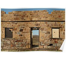 Joe Mortelliti Gallery - North Peake Ruins, Old Ghan Railway, South Australia.  Poster