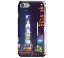Times square by night iPhone Case/Skin