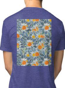 oranges and leaves vintage pattern Tri-blend T-Shirt