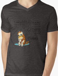 Calvin and Hobbes Dreams Quote Mens V-Neck T-Shirt