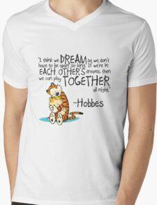 Calvin and Hobbes Dreams Quote Mens V-Neck T-Shirt