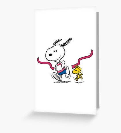 snoopy-running Greeting Card