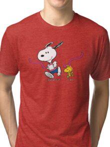 snoopy-running Tri-blend T-Shirt