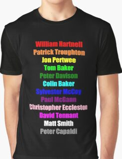 A Rainbow of Doctors Graphic T-Shirt