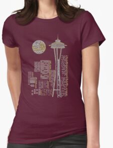 Seattle Skyline Womens Fitted T-Shirt