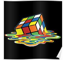 Rubik's Cube Melted Cubes Poster