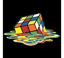 Rubik's Cube Melted Cubes Photographic Print
