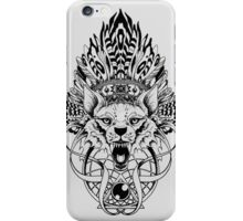 Wolf King iPhone Case/Skin