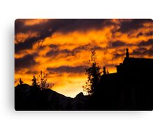 Burning Sky - Nature Photography Canvas Print