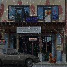 Moody Auto Parts In the Rain by Mike Pesseackey (crimsontideguy)