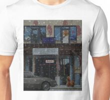 Moody Auto Parts In the Rain Unisex T-Shirt