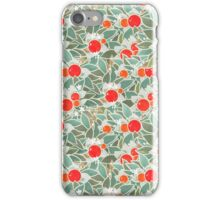 decorative vintage orange tree iPhone Case/Skin