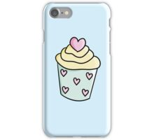 Cupcakes with yellow cream and heart iPhone Case/Skin