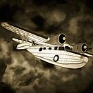 An old style digital painting of a 1930s Grumman Goose  by Dennis Melling