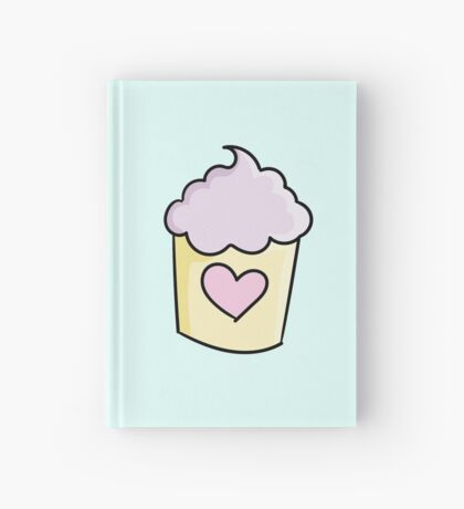 Cupcakes with purple cream and heart Hardcover Journal