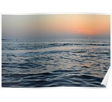 Sunset at the sea. Poster