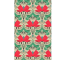 russian ethnic flowers pattern sepia Photographic Print