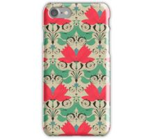 russian ethnic flowers pattern sepia iPhone Case/Skin