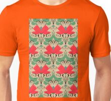 russian ethnic flowers pattern sepia Unisex T-Shirt