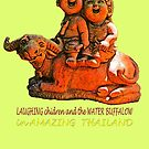 Laughing children and the water buffalo by DAdeSimone