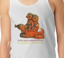 Laughing children and the water buffalo Tank Top