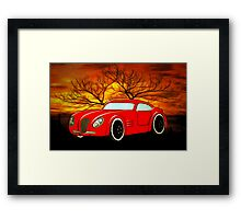 A Butch Red Muscle Car Framed Print