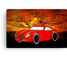 A Butch Red Muscle Car Canvas Print