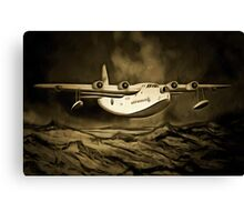 An old style digital painting of a Short Sunderland Flying Boat Canvas Print