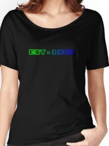 Est. 1980 - Blue green Women's Relaxed Fit T-Shirt