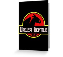 Useless Reptile Greeting Card