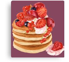 Lovely Pancakes Canvas Print