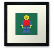 LEGO man Framed Print