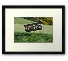 Moonah Links Series #126 Framed Print