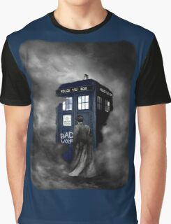Blue Box in The Mist Graphic T-Shirt