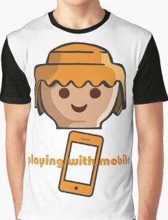 Playing With Mobile Graphic T-Shirt