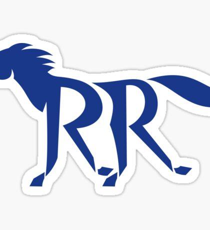Blue Horse Silhoutte RR Legs Running Retro Sticker